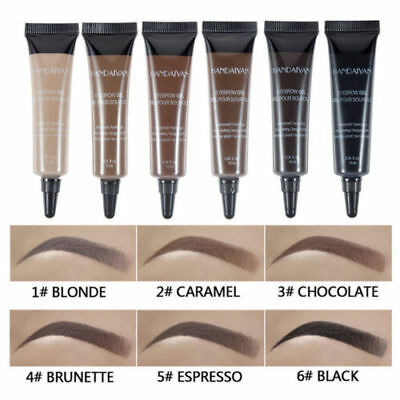 Eye Brow Tattoo Tint Dye Gel Eyebrow Cream + Brush Waterproof Long Lasting 10ml