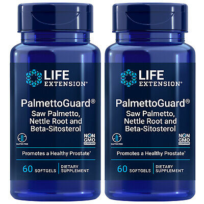 Palmetto Guard/Stinging Nettle Root with Beta-Sitosterol 2X60 Life Extension