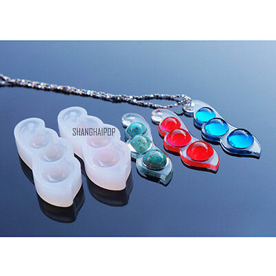 1 X Silicone Pod Mould Mold for DIY Resin Necklace Pendant Jewellery Making Tool