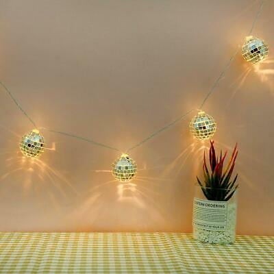10LED Glass Patch Ball Fairy String Light Wedding Holiday Party Home Decor Lamp