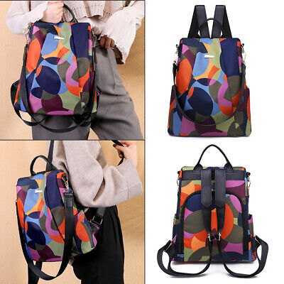 Women Anti-theft Travel Waterproof Oxford Cloth Backpack Shoulder Bag New