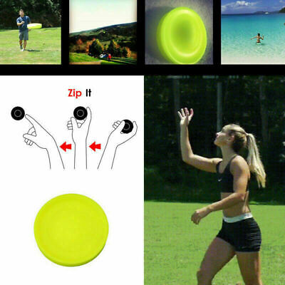 Zip Flying Disc Mini Chip Pocket Flexible Saucer NEW Spin in Catching Game Toys