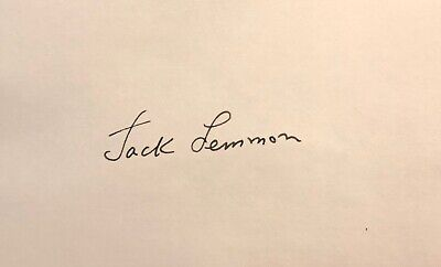 JACK LEMMON AUTOGRAPHED Hand SIGNED 3x5 INDEX CARD w/COA  MISTER ROBERTS