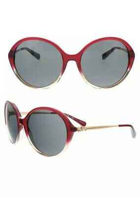 Coach Womens Round Red Sand Gradient Sunglasses Sunnies Gold Accent