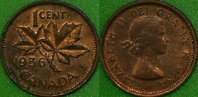 1956 Canada Penny Graded as Brilliant Uncirculated From Original Roll