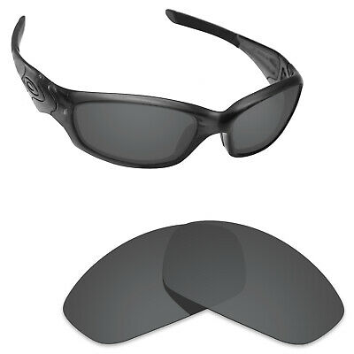 Scratch Proof Polarized Replacement Lenses for-Oakley Straight Jacket 2007 Black