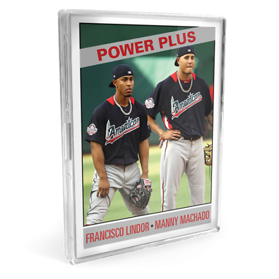 2019 Topps Lindor Machado #163 Only From TBT set 28 1966 Power Plus ASG PS