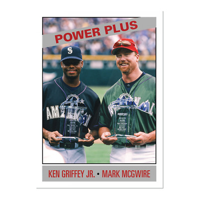 2019 Topps Griffey Jr. McGwire #164 Only From TBT set 28 1966 Power Plus ASG PS