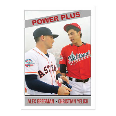 2019 Topps Alex Bregman / Yelich #168 Only From TBT set 28 1966 Power Plus PS