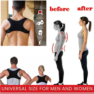 Men&Women Back Posture Correction Shoulder Corrector Support Brace Belts Therapy