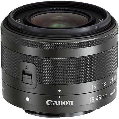 New Canon Zoom EF-M 15-45mm F3.5-6.3 IS STM Black Lens bulk box IT*1