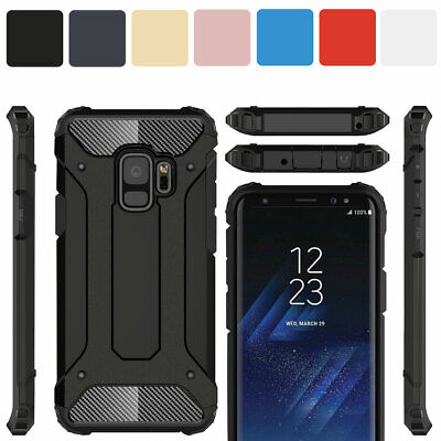 For Samsung Galaxy S9 S8+ S7 S6 Edge Plus ShockProof Metal Back Phone Case Cover