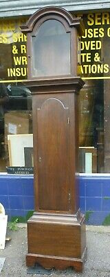 Good Antique Georgian Longcase Grandfather Clock Case Fit 12ins By 17ins Dial