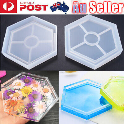 Hexagon Coaster Resin Casting Mold Silicone Jewelry Making Mould Tool Craft DIY