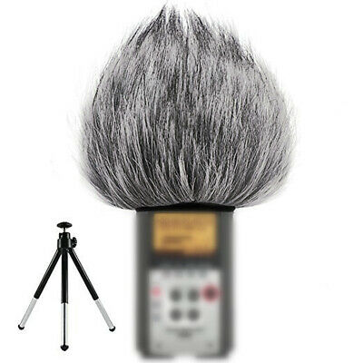 Faux Fur Microphone Mic Windshield Windscreen Drawstring Wind Muff Cover Durable