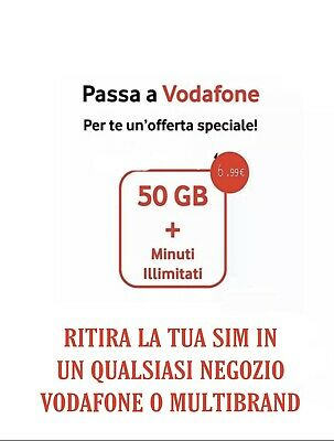 PASSA A VODAFONE Special MIN ILLIM 50GB in 4.5 G TIM TRE ILIAD WIND VIRTUALE