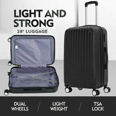28Inch Luggage Suitcase Trolley Set  Lock Travel ABS+PC Hard Case Lightweight