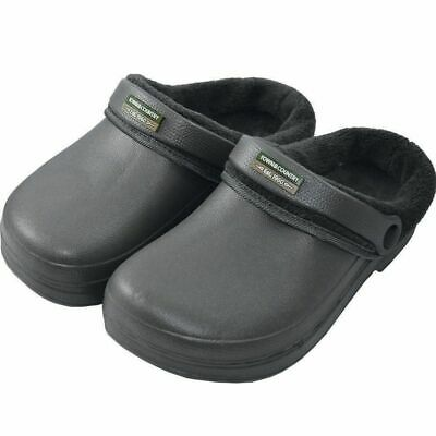 Charcoal Grey Lined Unisex Genuine Town&Country Garden Cloggs Cheapest On Ebay!!