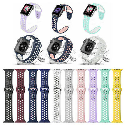 Fitness Silicone For Apple Watch 4321 Sport Watch Band Strap iWatch 40mm 44mm