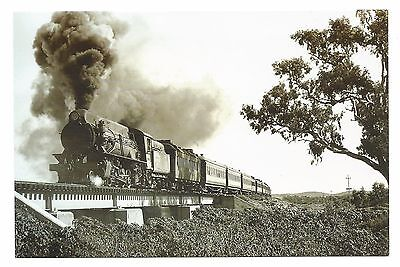 NSW - c2000s POSTCARD - REPRODUCTION SILVERTON TRAMWAY W CLASS W22 IN 1958