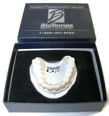 Dental BIOTEMPS Patient Presentation Model MaxillaryAnterior Temp Bridge Box-DE1