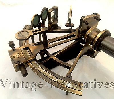 The Ancient Navy Brass Sextant Maritime Vintage Ship Navigation Sextant Working