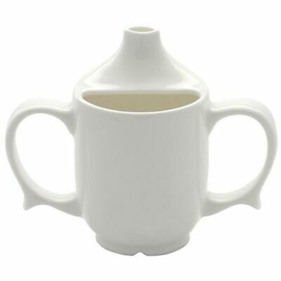 Dignity 2 Handled Feeder Cup White - PR65541W