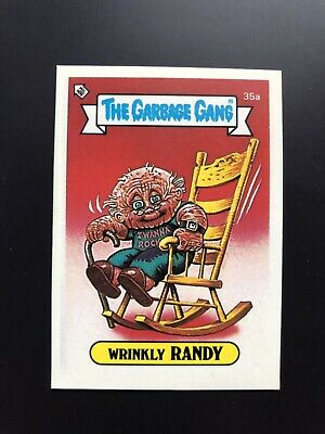 The Garbage Gang Wrinkly Randy 35a 1985 Card Sticker Vintage