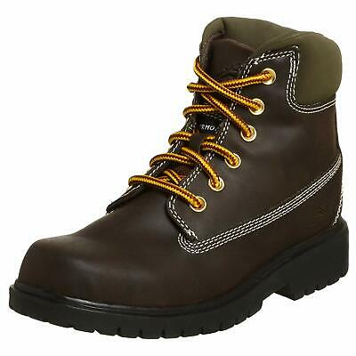 Kids Deer Stags Boys Mak2 Ankle Lace Up, Dark Brown, Size 2 M US Children