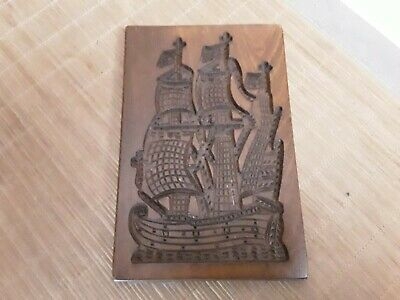 Beau ancien Moule a speculoos, speculaas,  old  mold hand carved