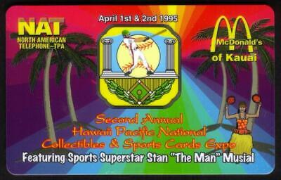 3u McDonald's Kauai & Stan Musial Baseball - 1995 Hawaii Pacific Expo Phone Card
