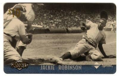 Assets '96 : $10. Jackie Robinson (Card #1 of 1) Case Card Phone Card