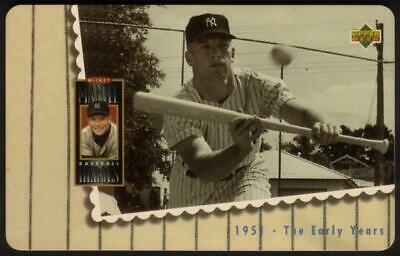 1st Mickey Mantle Upper Deck Set of 5 Cards (The Early Years) Phone Card