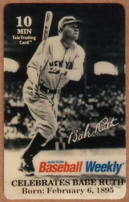 10m Babe Ruth - USA Today's Baseball Weekly. Blank Back PROOF Phone Card