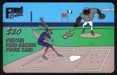 $20.00 FundCall - Cartoon Baseball Players SPECIMEN Phone Card