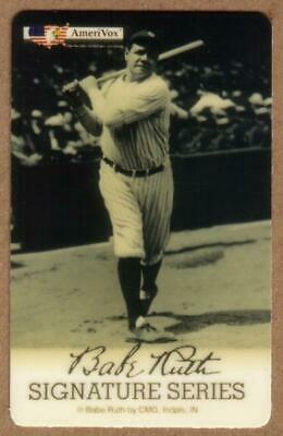 5m Babe Ruth Baseball Sign. Series 'Bambino, Sultan of Swat' SPECIMEN Phone Card