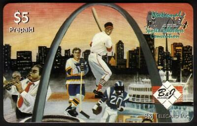 $5. 16th National Sports Collectors Convention (St. Louis 7/95) Phone Card