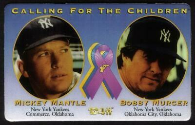 Mickey Mantle & Bobby Murcer Baseball 'Calling For The Children' Phone Card