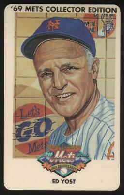 3m 1969 Champion Miracle Mets (25th Anniversary): Ed Yost Phone Card