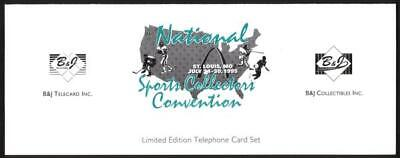 16th Nat'l Sports Coll. Conv. (St. Louis 7/95) Signed Folder Set of 3 Phone Card