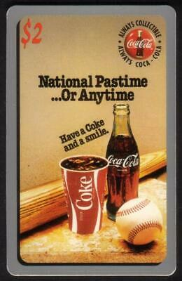 Coca-Cola '95 $2. National Pastime...(Baseball) Card #1 of 50 Phone Card