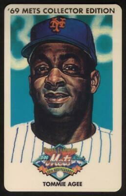 3m 1969 Champion Miracle Mets (25th Anniversary): Tommie Agee Phone Card