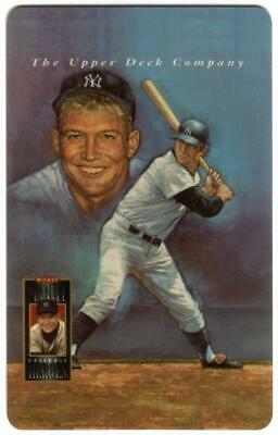 10m Mickey Mantle Baseball Artistic Portrait And At Bat Phone Card