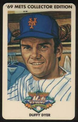 3m 1969 Champion Miracle Mets (25th Anniversary): Duffy Dyer Phone Card