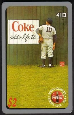 Coca-Cola '95 $2. 'Coke Adds Life To...' (Baseball) Card #3 of 50 Phone Card