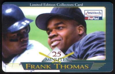 25m Frank Thomas Baseball 'Limited Edition Collector's Card' Phone Card