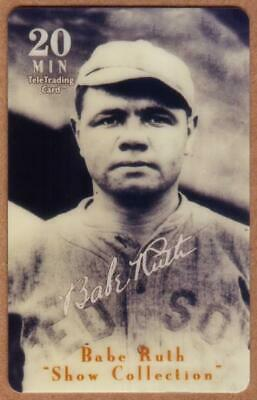 20m Babe Ruth Baseball: Show Collection: Babe Ruth 1915 Rookie Photo Phone Card