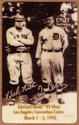 3u Babe Ruth Baseball: Los Angeles Expo 3/95 Show Cards Set of 2 Phone Card