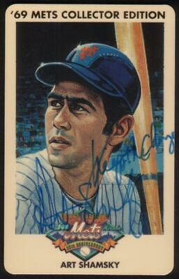 3m 1969 Champion Miracle Mets 25th Anniv: Art Shamsky SIGNED SPECIMEN Phone Card