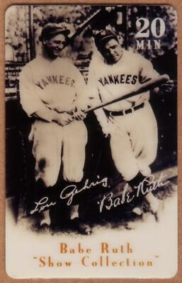 20u Babe Ruth Baseball: Show Collection: Babe Ruth & Lou Gehrig Phone Card